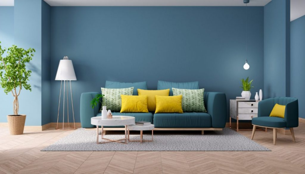 modern-vintage-interior-living-room-blueprint-home-decor-concept-green-couch-with-marble-table-blue-wall-hardwood-flooring-3d-render (1)